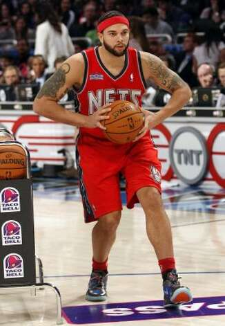 New Jersey Nets' Deron Williams participates in the NBA All-Star Skills Challenge basketball competition in Orlando, Fla., Saturday, Feb. 25, 2012. (AP Photo/Lynne Sladky) (AP) / SA
