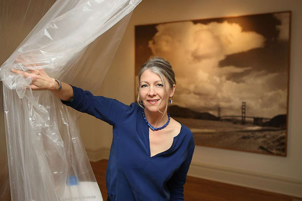 New executive director Anthea Hartig of the California Historical Society in San Francisco, Calif., will soon be unveiling an Ansel Adam's photo of the Golden Gate bridge as she shows the display space on Tuesday, February 21, 2011.