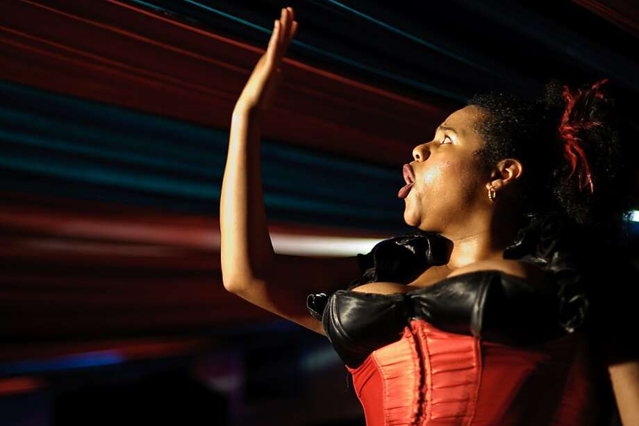 "Desiree Burch performs her one-woman show ""52 Man Pick-up"" at Brava Theater Photo: Adam Levy"