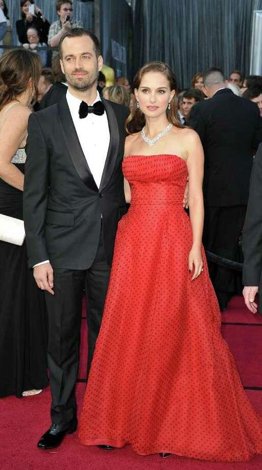 Natalie Portman had fun with polka dots in vintage Dior. Photo: JOE KLAMAR, AFP/Getty Images / 2012 AFP