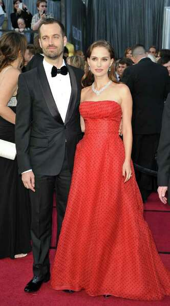 Natalie Portman had fun with polka dots in vintage Dior.