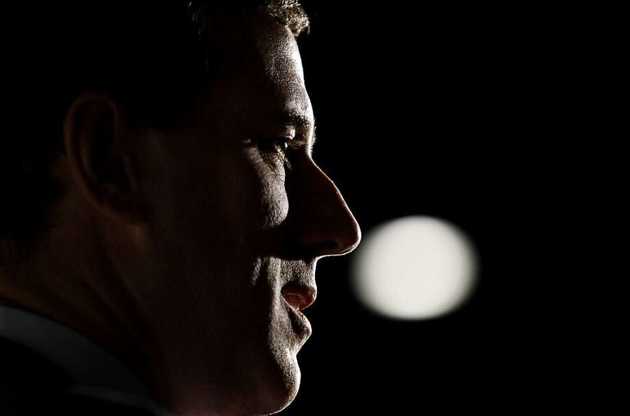 Republican presidential candidate, former Pennsylvania Sen. Rick Santorum speaks during a campaign rally, Sunday, Feb. 26, 2012, in Traverse City, Mich.  (AP Photo/Eric Gay) Photo: Eric Gay, Associated Press