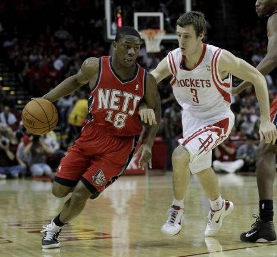 Ben Uzoh (left), Warren: Failed to score in six minutes for New Jersey at the Los Angeles Clippers on Nov. 15, 2010. Uzoh is averaging 3.7 points in 44 career games. (Pat Sullivan / Associated Press)