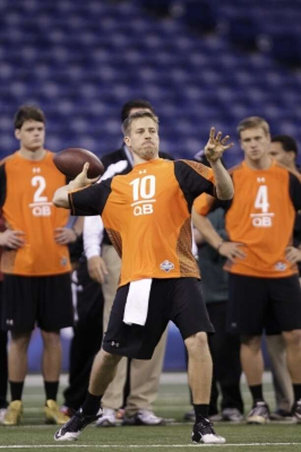 Houston quarterback Case Keenum throws a pass. (Michael Conroy / Associated Press)