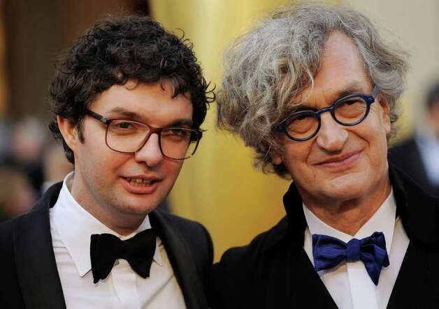 Gian-Piero Ringel, left, and Wim Wenders prove that the Hollywood bed-head style appeals to every generation. Photo: AP / SL