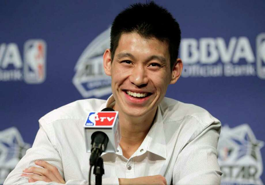 New York Knicks' Jeremy Lin appears for an availability before the NBA All-Star BBVA Rising Stars Challenge basketball game in Orlando, Fla., on Friday, Feb. 24, 2012. (AP Photo/Chris O'Meara) Photo: Associated Press