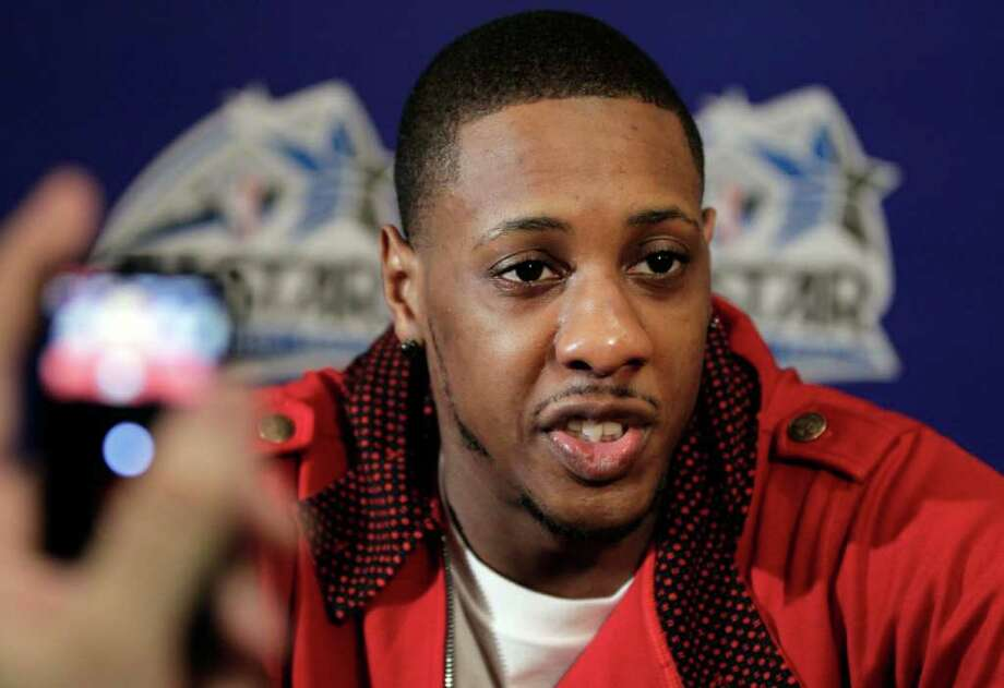 Miami Heat's Mario Chalmers speaks during an NBA All Star basketball player news conference, Friday, Feb. 24, 2012 in Orlando, Fla. The NBA All Star game will be played in Orlando on Sunday. (AP Photo/Chris O'Meara) Photo: Associated Press