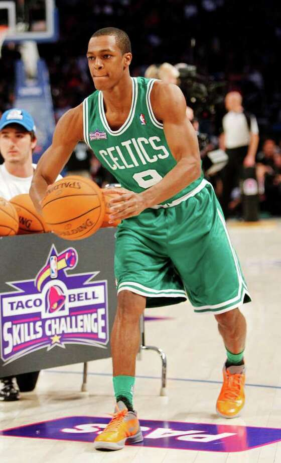 Boston Celtics' Rajon Rondo participates in the NBA All-Star Skills Challenge basketball competition in Orlando, Fla., Saturday, Feb. 25, 2012. (AP Photo/Lynne Sladky) Photo: Associated Press