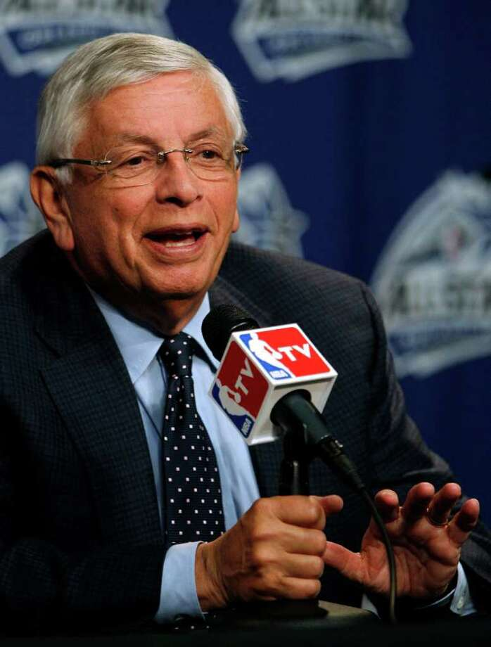 NBA Commissioner David Stern speaks to reporters before NBA All-Star basketball festivities in Orlando, Fla., Saturday, Feb. 25, 2012. ({AP Photo/Lynne Sladky) Photo: Associated Press