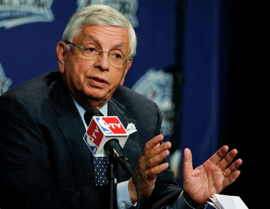 NBA Commissioner David Stern speaks to reporters before NBA All-Star basketball festivities in Orlando, Fla., Saturday, Feb. 25, 2012. (AP Photo/Lynne Sladky) Photo: Associated Press