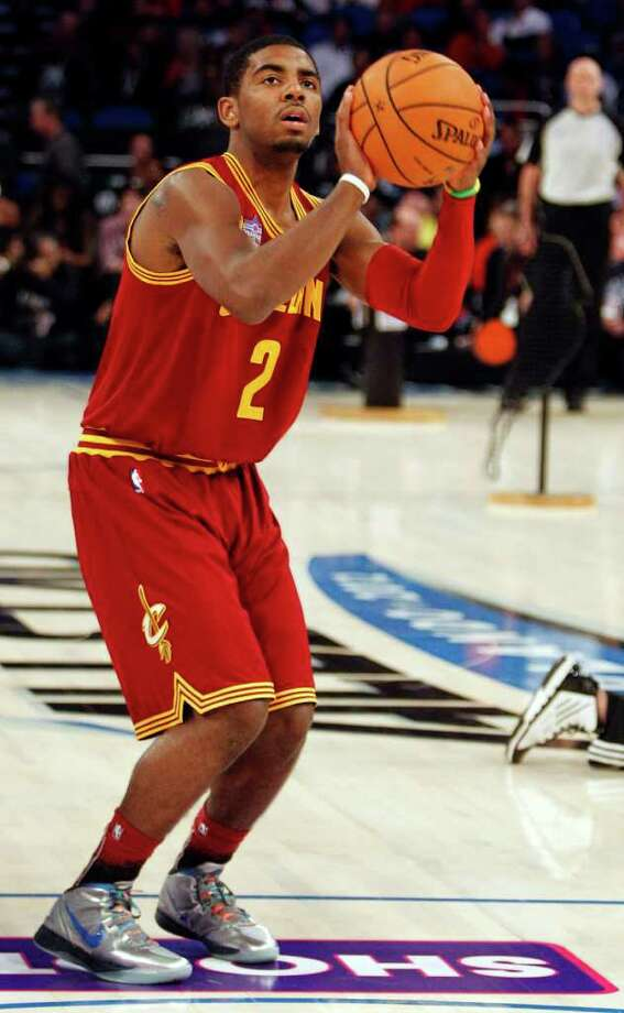 Cleveland Cavaliers' Kyrie Irving (2) participates in the NBA All-Star Skills Challenge basketball competition in Orlando, Fla., Saturday, Feb. 25, 2012. (AP Photo/Lynne Sladky) Photo: Associated Press