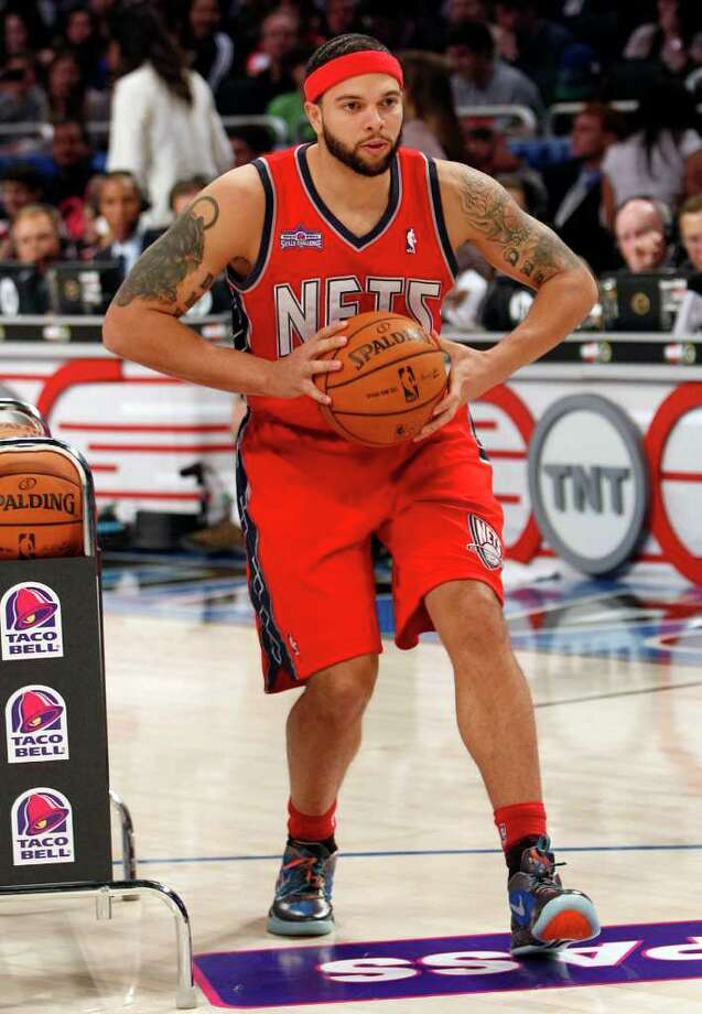 New Jersey Nets' Deron Williams participates in the NBA All-Star Skills Challenge basketball competition in Orlando, Fla., Saturday, Feb. 25, 2012. (AP Photo/Lynne Sladky) Photo: Associated Press