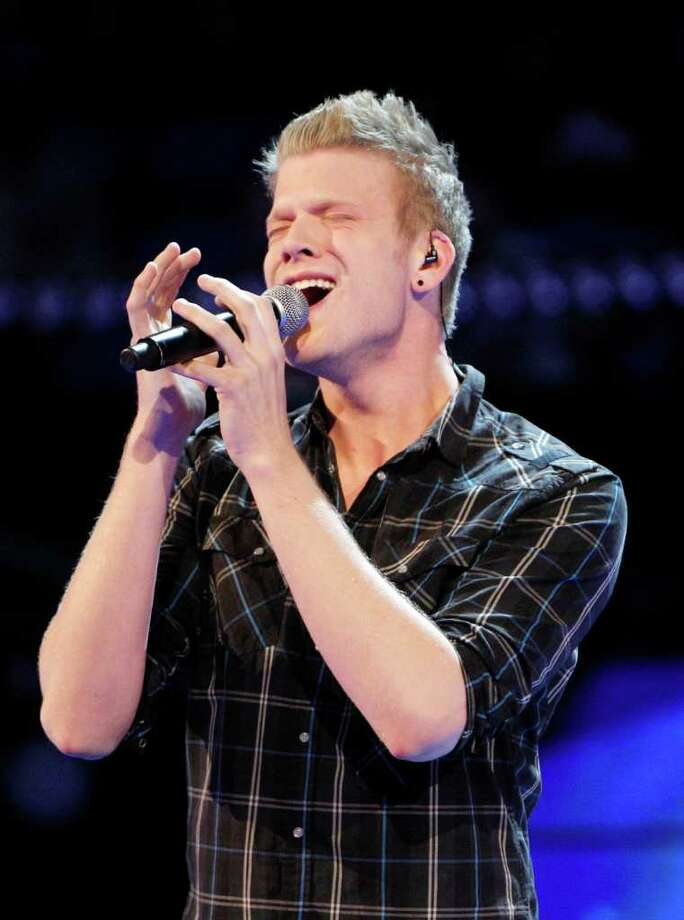 Pantatonix lead singer Scott Hoying performs during the NBA All-Star basketball game in Orlando, Fla., Saturday, Feb. 25, 2012. (AP Photo/Lynne Sladky) Photo: Associated Press