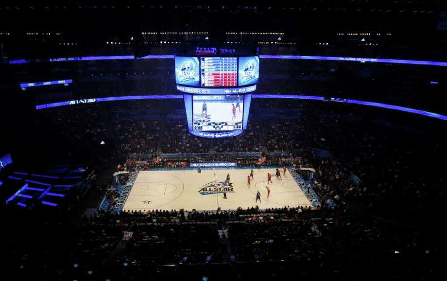 The Eastern Conference and Western Conference All-Stars play during the first half of the NBA All-Star basketball game, Sunday, Feb. 26, 2012, in Orlando, Fla. (AP Photo/Lynne Sladky) Photo: Associated Press