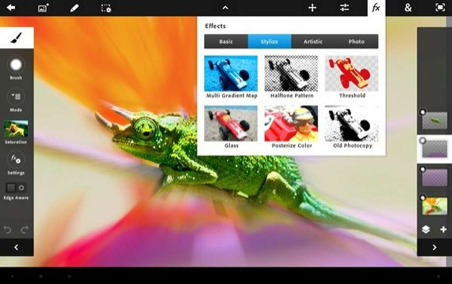 App of the Week: Adobe Photoshop Touch for mobile devices Photo: Adobe