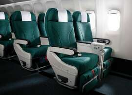 Cathay's new premium economy seat is similar to first class on domestic US flights-- but there's a lot more. (credit Cathay Pacific)