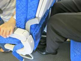 New seats in Cathay's economy class do no impinge on knee space when the person in front reclines. Magic!
