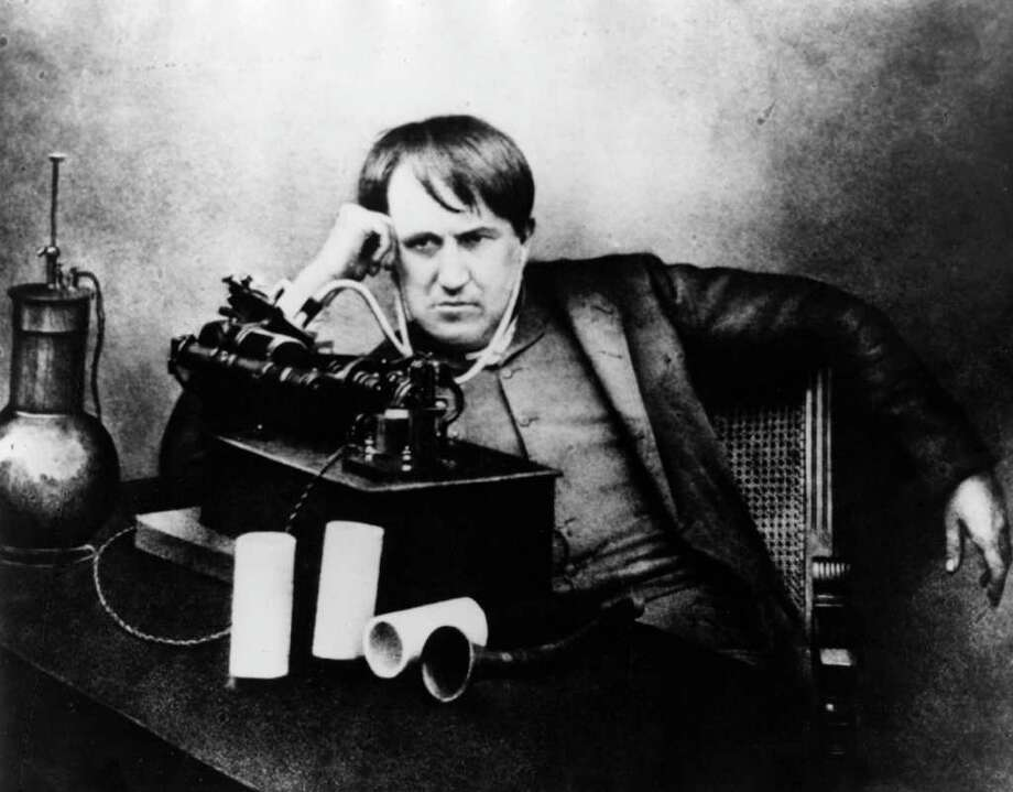 Music players have come a long way since Thomas Alva Edison invented the cylinder phonograph in 1877. Edison first used paper as a recording medium but switched to tin foil. Photo: Hulton Archive, Getty Images / Hulton Archive