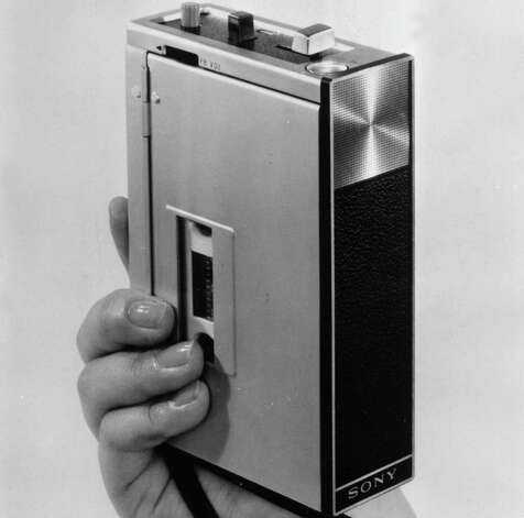 Sony's TC-50 was the world's smallest tape recorder in 1968. Photo: Keystone, Getty Images / Hulton Archive