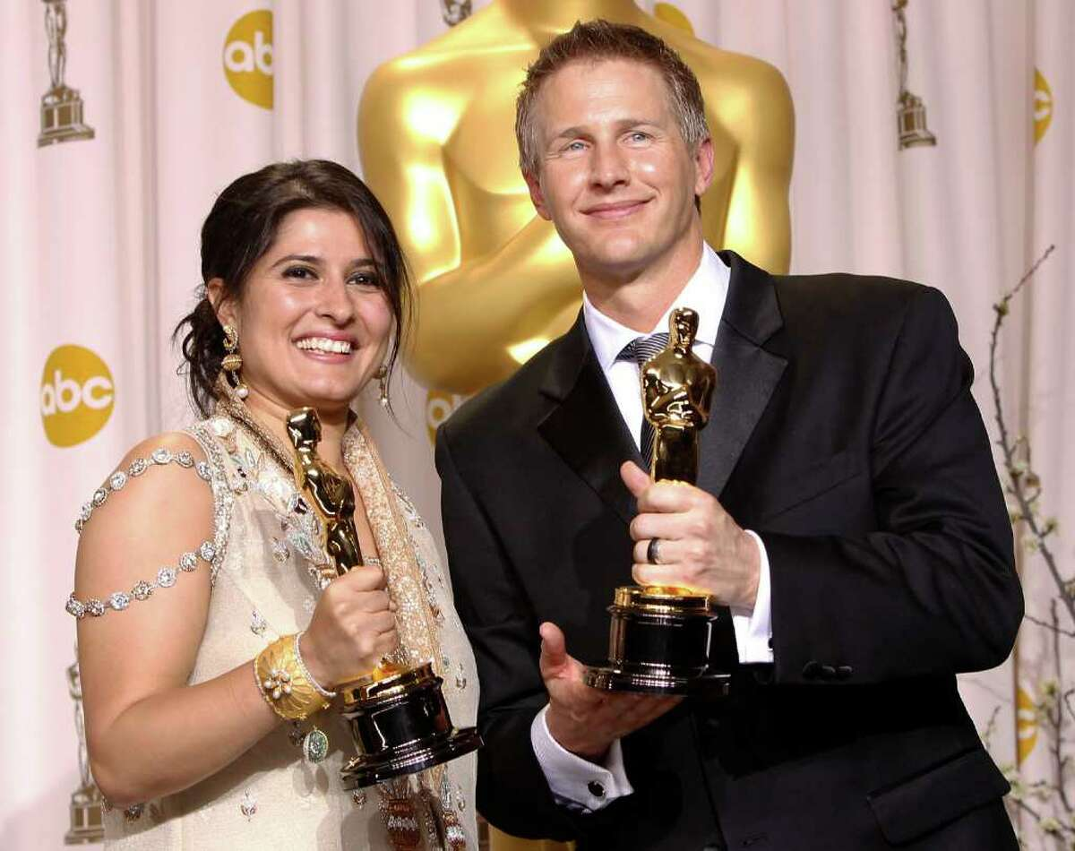 Sharmeen Obaid-Chinoy (left) and Daniel Junge won the award for best documentary short for