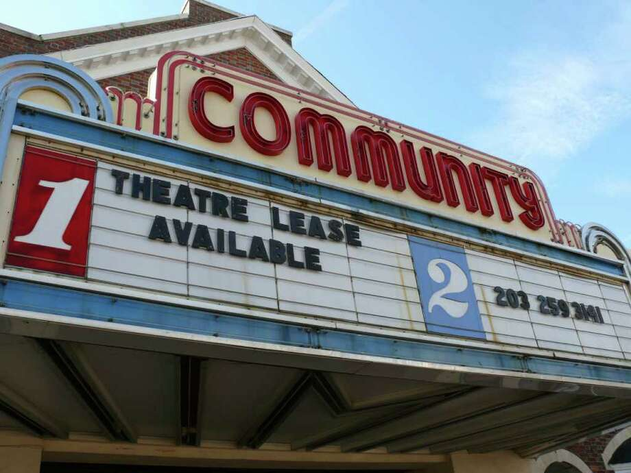 The owner of the Community Theatre at the intersection of Post and Unquowa roads has begun advertising the property's availability. Photo: Genevieve Reilly / Fairfield Citizen