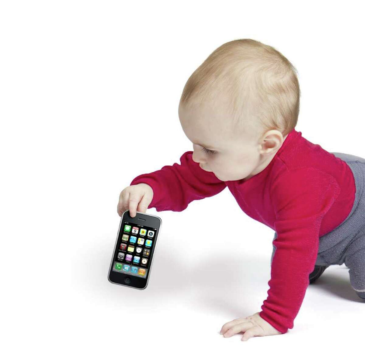 Little ones are intrigued by smartphones and other electronic devices, but many products can help protect the items.