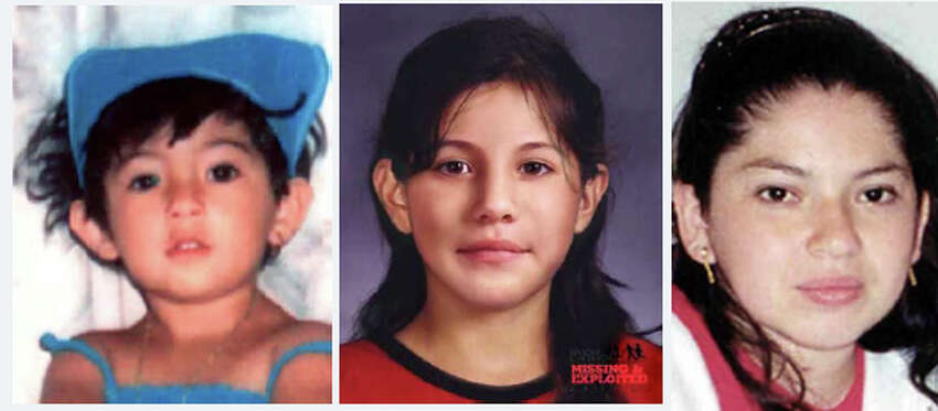 Agueda Arias, 3, has been missing since Nov. 30, 2001. Arias - pictured on the left as seen in 2001 and in an age-progressed photo depicting her as a 10-year-old - and her mother Guadalupe Castro, right, were last seen in Longview. Castro would now be 33. Anyone with information can contact the Longview Police Department at 360-442-5801. The Washington State Patrol missing persons unit can be reached at 1-800-543-5678; National Center for Missing and Exploited Children hotline is 1-800-843-5678 (1-800-THE-LOST). More information on Washington state missing children is available online at wsp.wa.gov.