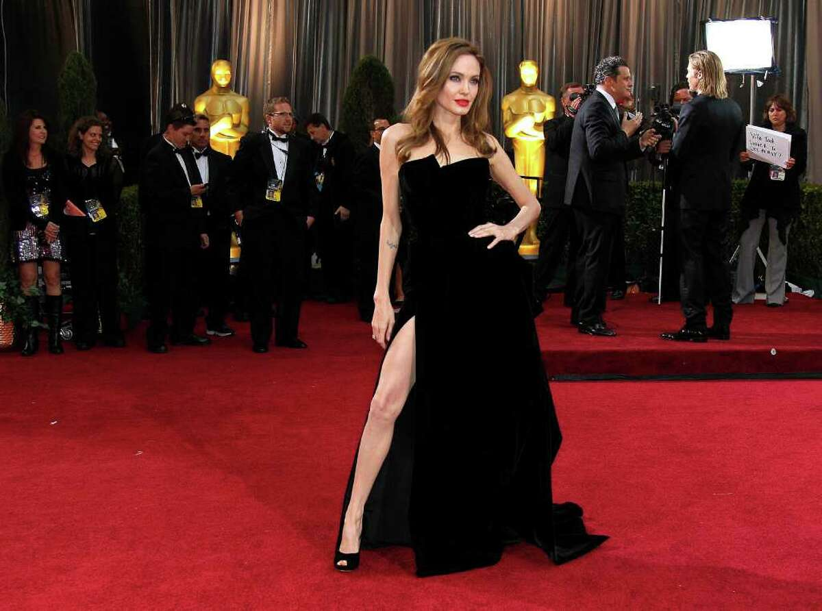 Angelina Jolie's exposed leg on the red carpet before Sunday's Academy Awards has spawned its own Twitter feed: twitter/angiesright leg.