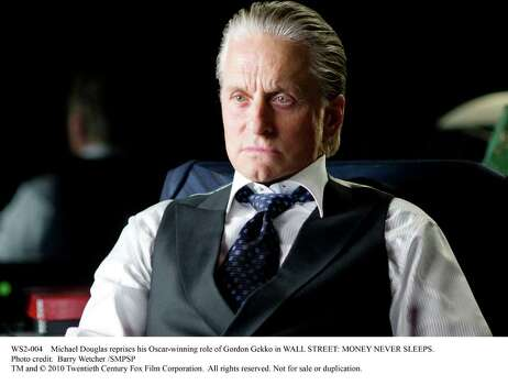 Michael Douglas reprises his Oscar-winning role of Gordon Gekko in WALL STREET: MONEY NEVER SLEEPS. Photo: Barry Wetcher SMPSP / DirectToArchive