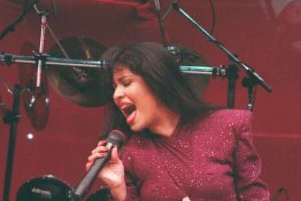Selena performed at the Houston Livestock Show and Rodeo in 1994-'95. She also performed with Los Dinos in 1993. (John Everett / Houston Chronicle)