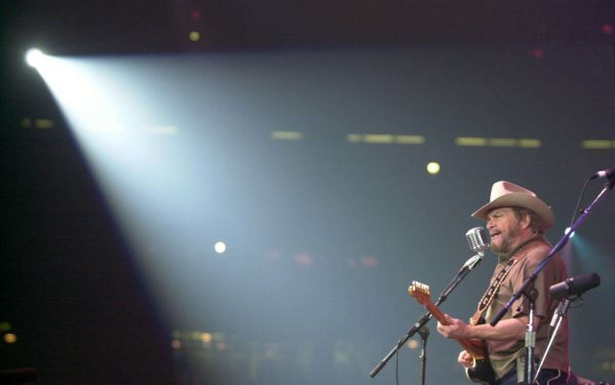 Merle Haggard performed at the Houston Livestock Show and Rodeo in 1973, '78, '82-'84, '86, '89 and 2000. (SMILEY N. POOL / Houston Chronicle)