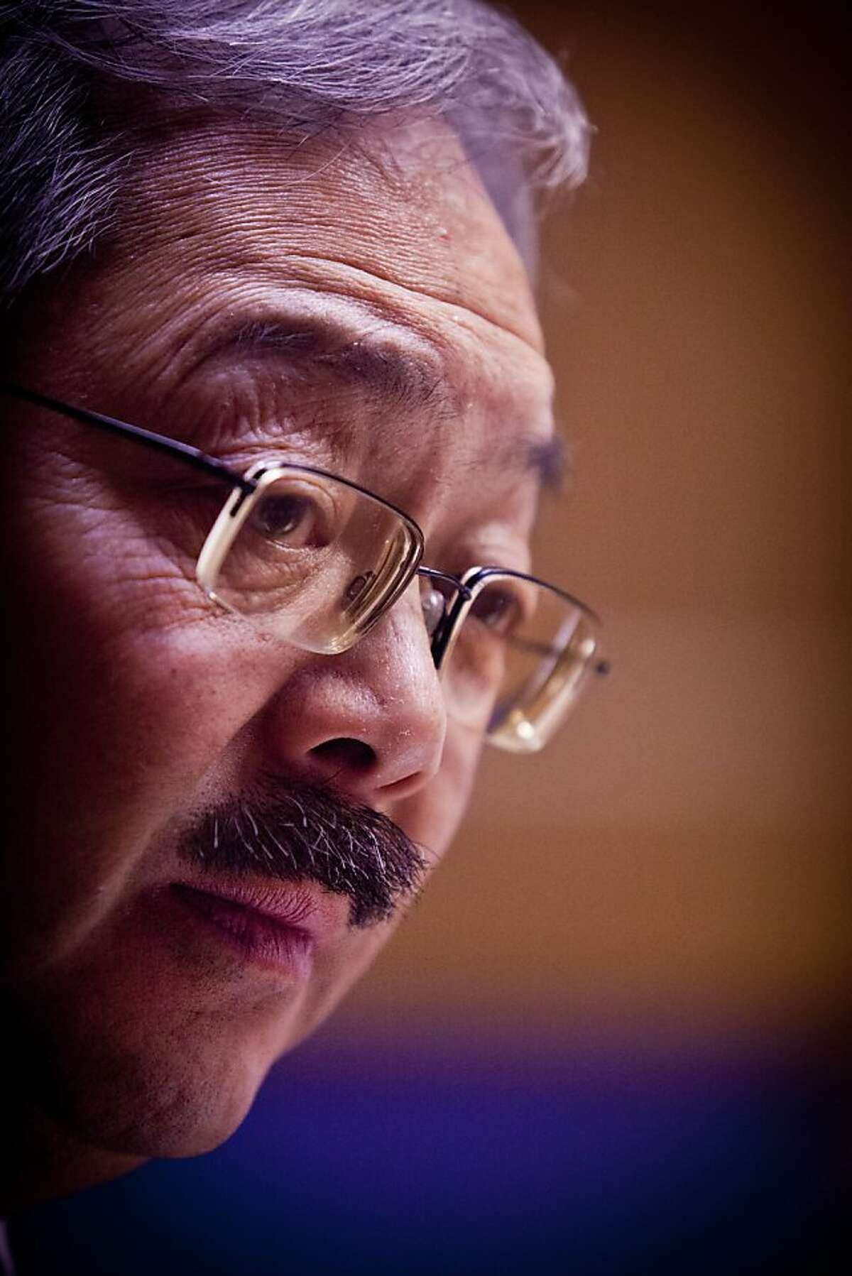 San Francisco's Mayor Ed Lee talks to the Chronicle Editorial Board on Monday, Jan. 9, 2012 in San Francisco, Calif.