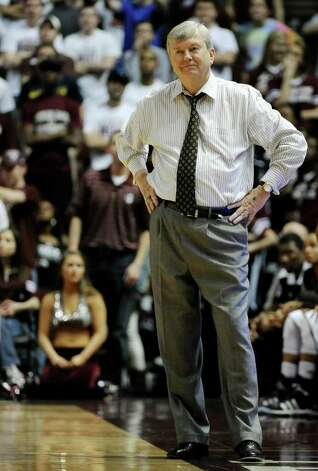 Texas A&M coach Gary Blair watches the final minutes of an NCAA college basketball game against Baylor on Monday, Feb. 27, 2012, in College Station. Baylor won 69-62. Photo: Associated Press