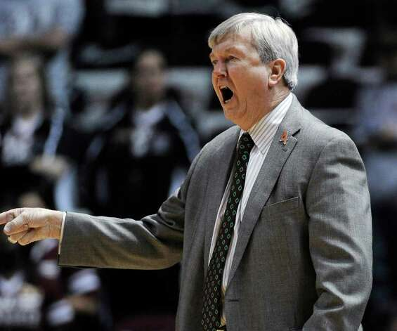 Texas A&M coach Gary Blair yells to his players in the first half of an NCAA college basketball game against Baylor on Monday, Feb. 27, 2012, in College Station. Photo: Associated Press