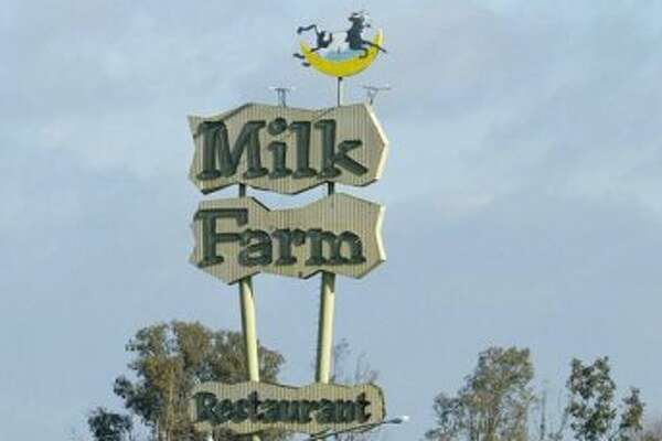 9. THE MILK FARM SIGN: The sign is all that remains from the Dixon restaurant, which is definitely outside the Bay Area. But it's my list. Defended by preservationists, the Milk Farm sign is the Doggie Diner head of Solano County. (Paul Chinn / The Chronicle)