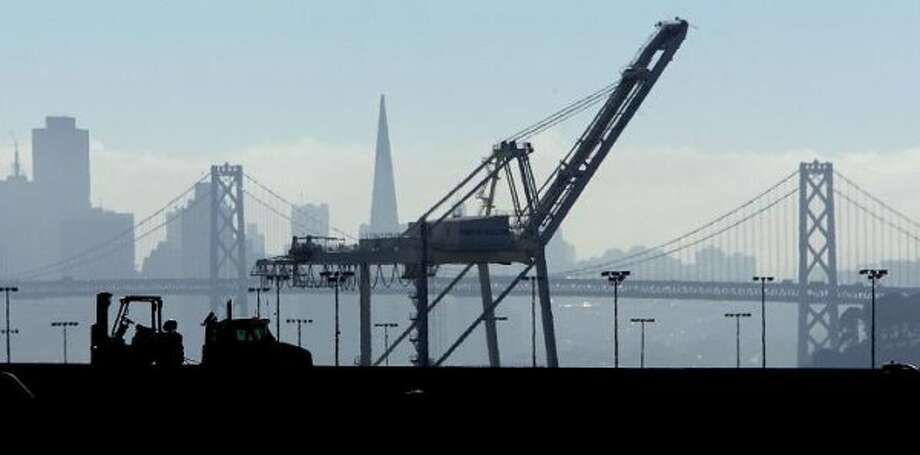 "Cranes at the Port of Oakland can be depicted as the inspiration for the ""Empire Strikes Back"" AT-ATs, whether or not that's an urban myth."