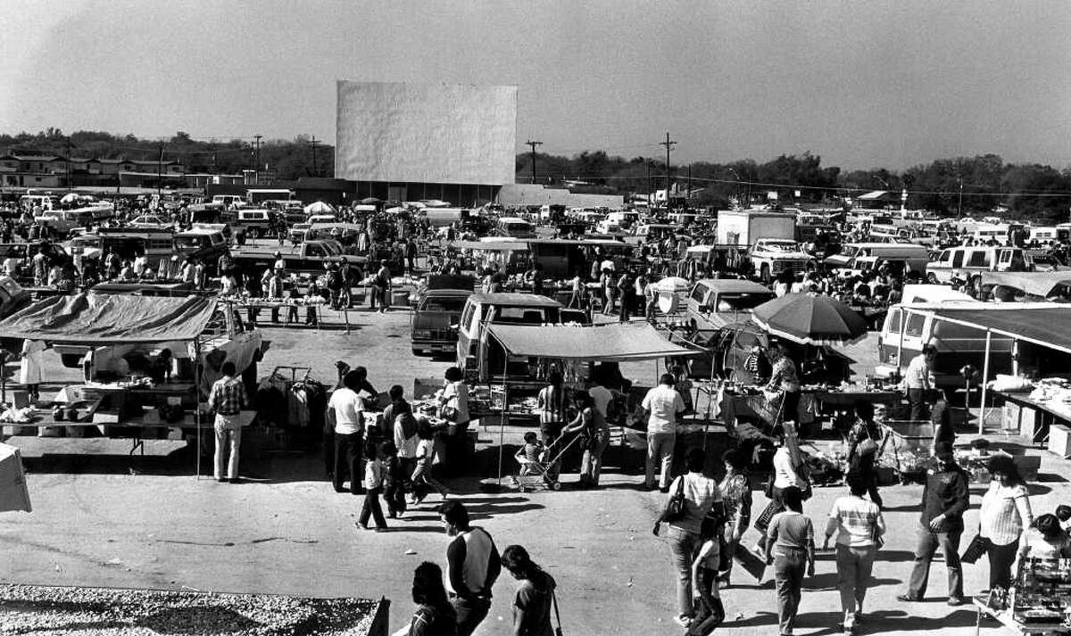THEN AND NOW 010404 - Mission Drive-In turned into a flea-market in this Dec. 1984 file photo.