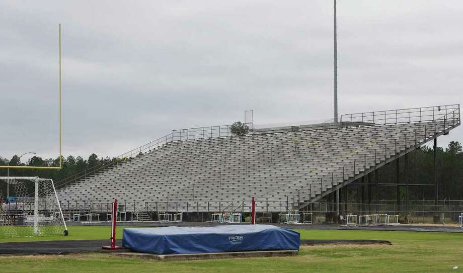 Lumberton ISD recently removed the press box from the Raider's stadium and is accepting bids for a replacement. Other renovations are expected that will add 3,000 square feet to the field house.    David Lisenby/The Hardin County News