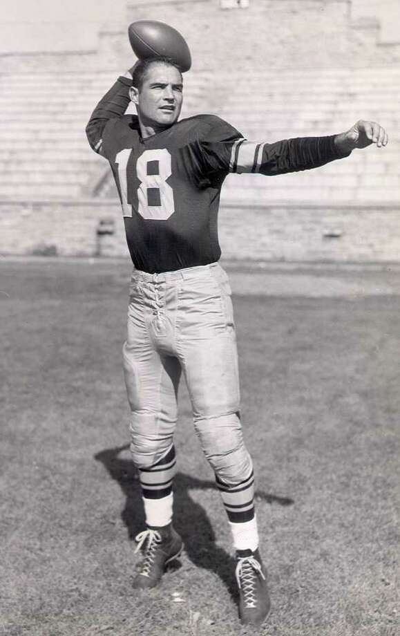 Tobin Rote, shown in 1957, is the only QB to lead teams to titles in the NFL, AFL and CFL. Photo: Express-News File Photo