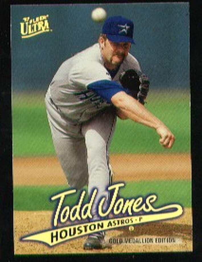Todd Jones, 1995-96:12-8, 3.55 ERA, 32-43 SV (74.4 percent), 157.0 IP, 150 H, 84 BB, 140 K, 110 ERA+