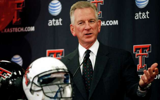 Texas Tech coach Tommy Tuberville speaks during an NCAA college football national signing day news conference, Wednesday, Feb. 1, 2012, in Lubbock, Texas. Photo: AP