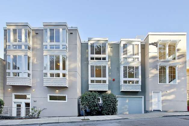The #10 unit at 767 Corbett St. in Twin Peaks has two bedrooms and 2.5 bathrooms across 1,243 square feet. It's on the market for $769,000. Photo: OpenHomesPhotography.com