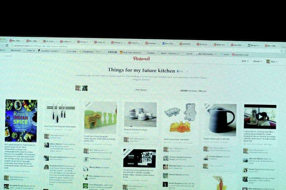 Pinterest has found a niche as a social network based on sharing topics that users are passionate about. Photo: David Paul Morris / 2012 Bloomberg Finance LP
