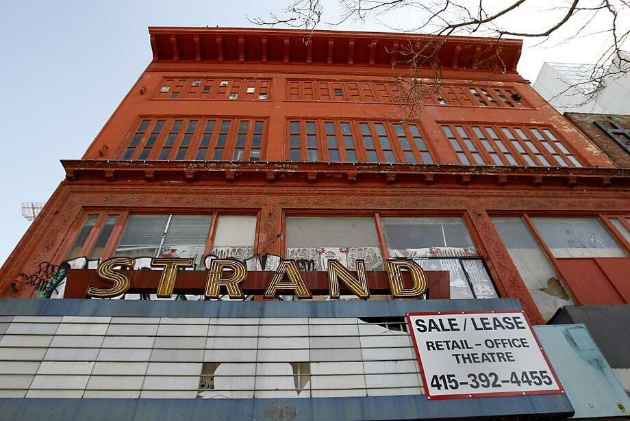 The 800-seat Strand Theatre, a Market Street landmark for nearly a century, has languished since closing around 2006. Photo: Brant Ward, The Chronicle