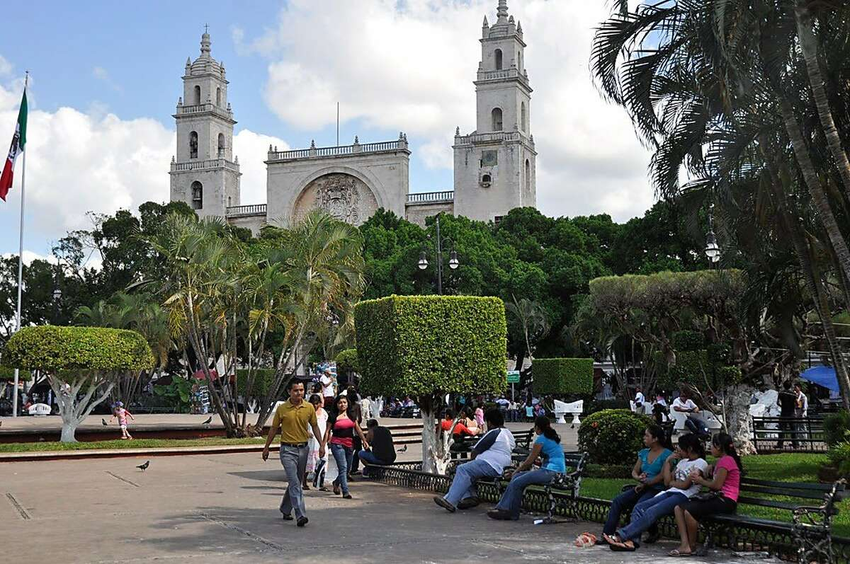 Merida's Plaza Grande is a welcoming spot for visitors.