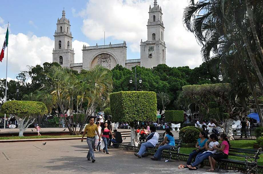 Merida's Plaza Grande is a welcoming spot for visitors. Photo: Christine Delsol, Special To SFGate