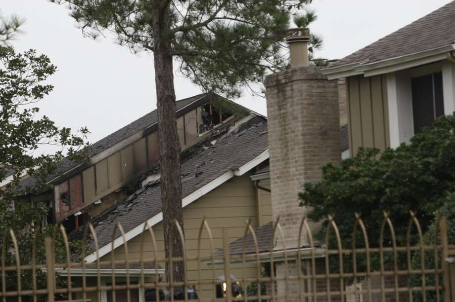 The fire was reported this morning in southwest Houston. (Johnny Hanson/Chronicle)