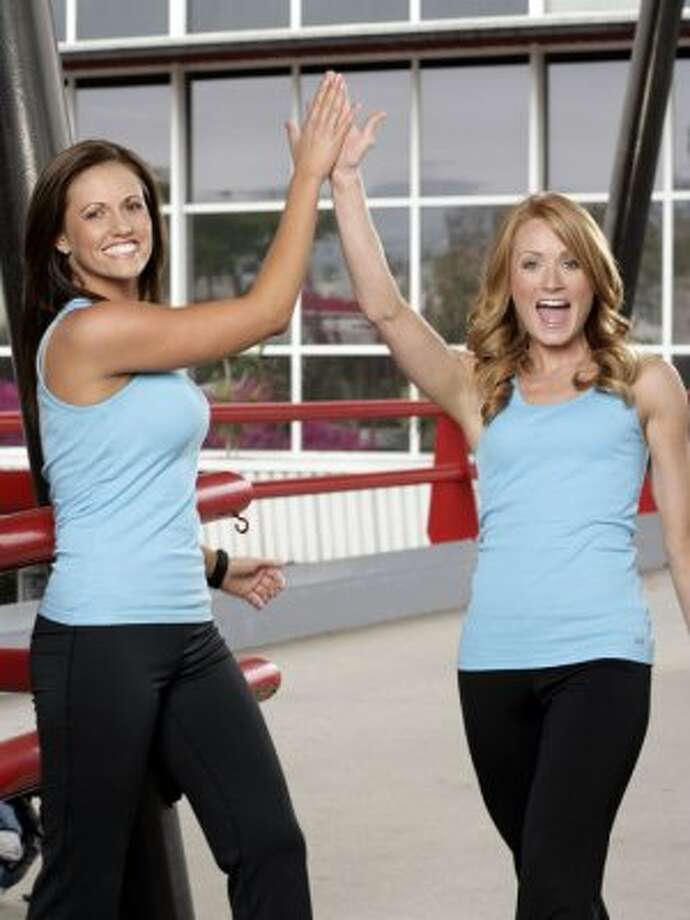 Kelly Crabb (left) of Houston: The Amazing Race, Season 13 (2008) (MONTY BRINTON / CBS)