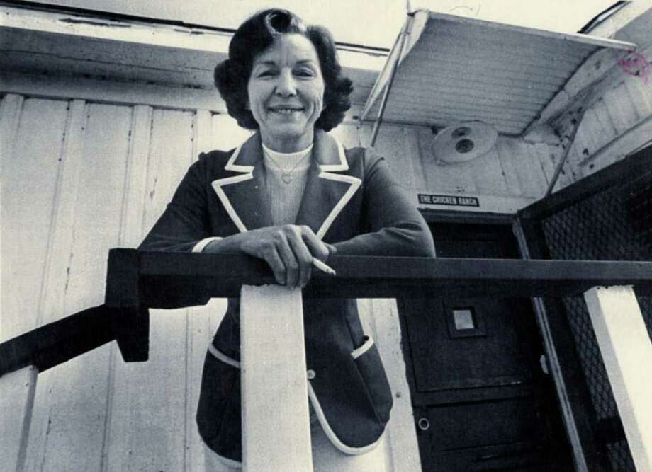 These days Edna Milton finds herself in familiar surroundings, the same big white house that for more than 20 years was her home and business. She is now hostess of the building, which has the same name, the Chicken Ranch. But now it's a restaurant instead of a brothel. UPI. Dec. 5, 1977 Photo: Chicken Ranch