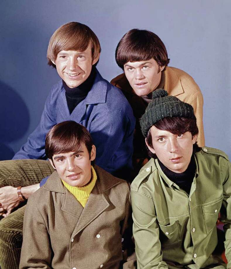 """Pop musical group, """"The Monkees"""" are shown in this Oct. 20, 1966 photo. At top are: Peter Tork, right, and Mickey Dolenz. At bottom are: David Jones, left, and Mike Nesmith. (AP Photo) Photo: AP Photo"""